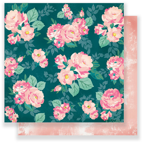 Crate Paper - Chasing Dreams Collection - 12 x 12 Double Sided Paper - Garden Club
