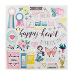 Crate Paper - Chasing Dreams Collection - 12 x 12 Chipboard Stickers with Foil Accents