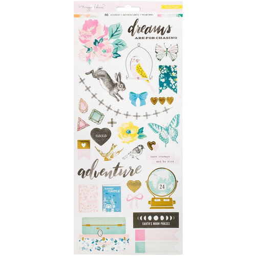Crate Paper - Chasing Dreams Collection - Cardstock Stickers