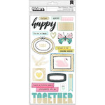 Crate Paper - Chasing Dreams Collection - Thickers - Chip Accents - Collect - Gold Foil