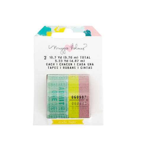 Crate Paper - Chasing Dreams Collection - Washi Tape Tickets