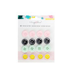 Crate Paper - Chasing Dreams Collection - Vintage Buttons Stickers