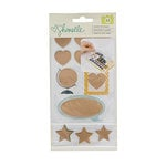 American Crafts - Go Now Go Collection - Scratch Off Stickers with Foil Accents