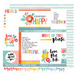 American Crafts - Oh Happy Life Collection - 12 x 12 Double Sided Paper - Everyday Happy