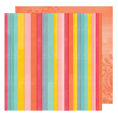 American Crafts - Oh Happy Life Collection - 12 x 12 Double Sided Paper - Rise and Shine