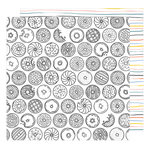 American Crafts - Oh Happy Life Collection - 12 x 12 Double Sided Paper - Midnight Snack