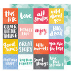 American Crafts - Oh Happy Life Collection - 12 x 12 Double Sided Paper - All Smiles
