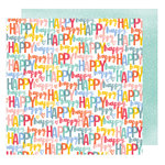 American Crafts - Oh Happy Life Collection - 12 x 12 Double Sided Paper - Happy