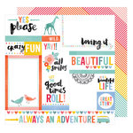 American Crafts - Oh Happy Life Collection - 12 x 12 Double Sided Paper - Yes Please