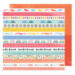 American Crafts - Oh Happy Life Collection - 12 x 12 Double Sided Paper - Cruising Along