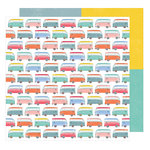American Crafts - Oh Happy Life Collection - 12 x 12 Double Sided Paper - Enjoy the Ride