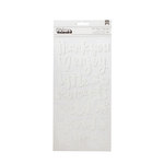 American Crafts - Oh Happy Life Collection - Thickers - Alpha - Wild - White