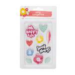American Crafts - Oh Happy Life Collection - Rubber Shapes