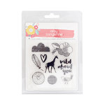 American Crafts - Oh Happy Life Collection - Clear Acrylic Stamps