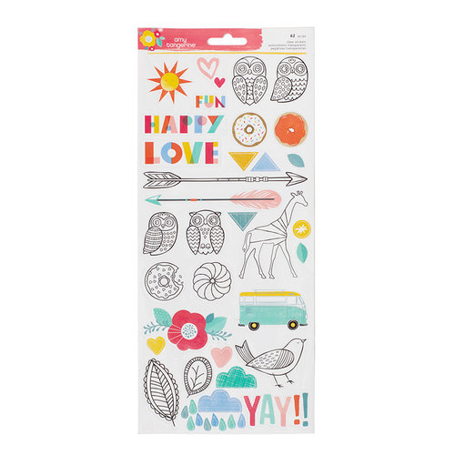 American Crafts - Oh Happy Life Collection - Cardstock Stickers - Accent and Phrases