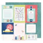 American Crafts - Saturday Collection - 12 x 12 Double Sided Paper - Broadway