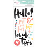 American Crafts - Saturday Collection - Thickers - Hello - Multicolor