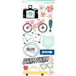 American Crafts - Saturday Collection - Cardstock Stickers - Accents and Phrases
