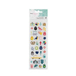 American Crafts - Saturday Collection - Puffy Stickers - Mini Icons