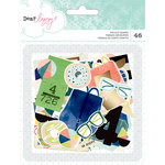 American Crafts - Dear Lizzy Collection - Saturday - Ephemera with Foil Accents