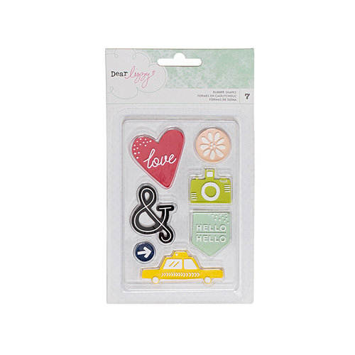 American Crafts - Saturday Collection - Rubber Shapes