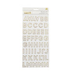 American Crafts - DIY Shop 4 Collection - Thickers - Chipboard - Gold Foil - Follow