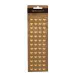 American Crafts - DIY Shop 4 Collection - Puffy Stickers - Hearts - Gold