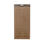 American Crafts - DIY Shop 4 Collection - Clear Stickers with Foil Accents - Labels