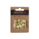 American Crafts - DIY Shop 4 Collection - Push Pins - Bows - Gold Plated