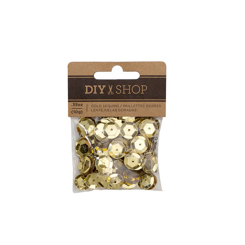 American Crafts - DIY Shop 4 Collection - Sequins - Gold