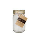 American Crafts - DIY Shop 4 Collection - Mini Mason Jar - Gold Plated - Glass