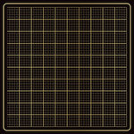 American Crafts - DIY Shop 4 Collection - 12 x 12 Paper - Gold Foil on Black