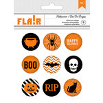 American Crafts - Halloween Collection - Flair Stickers