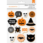 American Crafts - Halloween Collection - Wood Shapes Stickers