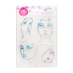American Crafts - Mixed Media - Clear Acrylic Stamps - Two