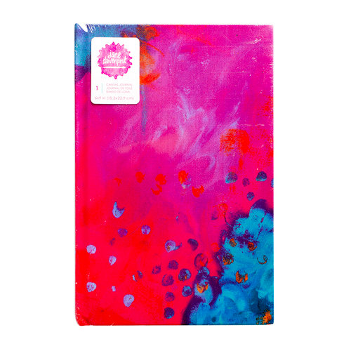 American Crafts - Mixed Media - Printed Canvas Journal - 6 x 9 - One - Undated