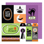 American Crafts - Halloween Collection - 12 x 12 Double Sided Paper - Jeepers Creepers