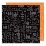 American Crafts - Halloween Collection - 12 x 12 Double Sided Paper - Spooktacular