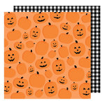 American Crafts - Halloween Collection - 12 x 12 Double Sided Paper - Pumpkin Patch