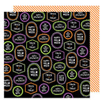 American Crafts - Halloween Collection - 12 x 12 Double Sided Paper - Happy Halloween