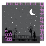 American Crafts - Halloween Collection - 12 x 12 Double Sided Paper - Haunted Graveyard