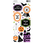 American Crafts - Halloween Collection - Cardstock Stickers - Accents and Phrases
