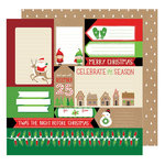 American Crafts - All Wrapped Up Collection - Christmas - 12 x 12 Double Sided Paper - 'Twas the Night