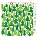 American Crafts - All Wrapped Up Collection - Christmas - 12 x 12 Double Sided Paper - Evergreens