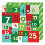 American Crafts - All Wrapped Up Collection - Christmas - 12 x 12 Double Sided Paper - Advent