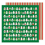 American Crafts - All Wrapped Up Collection - Christmas - 12 x 12 Double Sided Paper - Snowmen