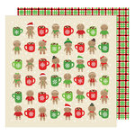 American Crafts - All Wrapped Up Collection - Christmas - 12 x 12 Double Sided Paper - Hot Cocoa