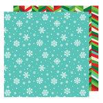 American Crafts - All Wrapped Up Collection - Christmas - 12 x 12 Double Sided Paper - Snowflakes