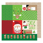 American Crafts - All Wrapped Up Collection - Christmas - 12 x 12 Double Sided Paper - 'Tis the Season