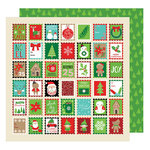 American Crafts - All Wrapped Up Collection - Christmas - 12 x 12 Double Sided Paper - Holiday Greetings
